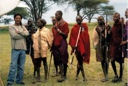 In Kenya charity work in Kadjedo dist.Imbirikani ,with Massai woriors 2006