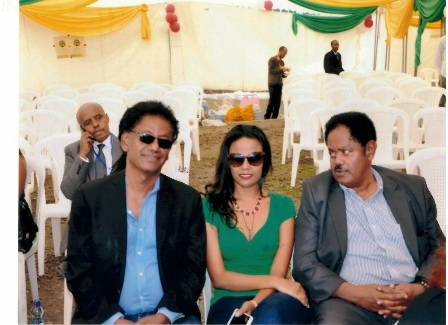 At the inauguration of the Diaspora square in 2014 with Mekdes Tsegayae and Addis Gessesse.