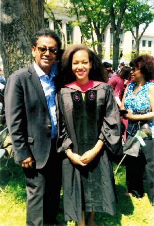 Daughter Kidist A. Gessesse`s graduation at Harvard Law school.
