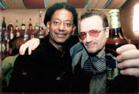 With Bono of U2 in A.A. 2013